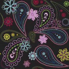 Purple Paisley Cross Stitch Pattern