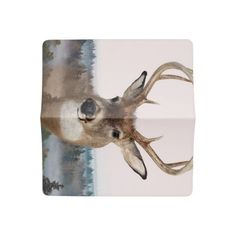 Whitetail Deer Double Exposure Checkbook Cover