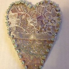 Textiles - bubble wrap and fabric heart