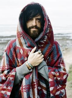 Bearded and blanketed