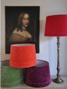 DIY: Velvet Lampshades