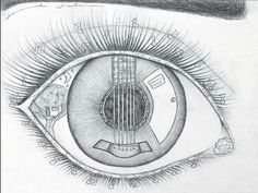 """As Seen Through Their Eyes   It occurred to me that my students could draw stories within the eyeball """"as seen through their eyes."""""""