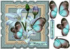 Scallop Topper Sympathy Butterflies & Lilies - CUP632037_936 | Craftsuprint