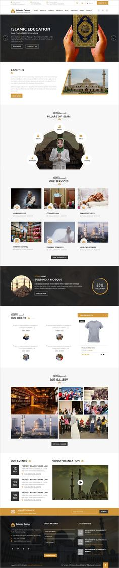 Clean and modern design 2in1 responsive #bootstrap template for #Mosque, #Islamic Center, #madrasa Islamic Institute, Islamic College website download now..