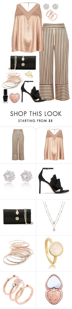 """""""Give me the night"""" by stephanielee4 ❤ liked on Polyvore featuring River Island, Jimmy Choo, Dolce&Gabbana, Red Camel, Michael Kors, Too Faced Cosmetics, Barry M and plus size clothing"""