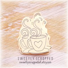 LAST ONE.... Coffee or Tea Cup with Hearts... Embellishments, Small, Blank, Scrapbooking, Pocket Letters, Planner, Planner goodies, DIY Free Printable Tags, Free Printables, Scrapbook Pages, Scrapbooking, Pocket Letters, Smash Book, Filofax, Journal Cards, Hostess Gifts