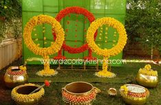 Beauty of traditional decor exemplified with amazing themes from is taking orders for eco-friendly home… Used Wedding Decor, Wedding Backdrop Design, Wedding Hall Decorations, Wedding Stage Design, Marriage Decoration, Backdrop Decorations, Diwali Decorations, Flower Decorations, Backdrops