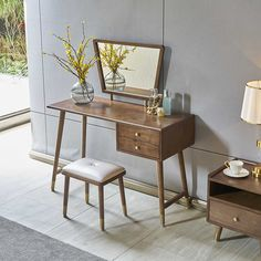 Source Nordic Style Elegant Wooden Designs Dresser Bedroom Furniture Wood Girls Dressing Table With Mirror And Stool on m.alibaba.com Dressing Table With Mirror And Stool, Dressing Table Wooden, Bedroom Dressing Table, Dressing Table Design, Dressing Room, Living Room Sofa, Living Room Decor, Bedroom Decor, Girls Bedroom