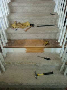 You might want to rethink your carpet stairs when you see what this homeowner did!