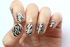 nail-art-oeil-animal-zèbre-tigre