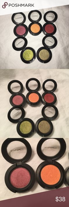 MAC Eyeshadow Bundle 5 MAC Eyeshadows. Shades are Cranberry, Off the Page, Coppering, Lucky Green & Sumptuous Olive. Barely used. 100% Authentic! MAC Cosmetics Makeup Eyeshadow