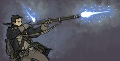 soldier firing magic musket by ~MaximusMk1