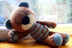 Crochet teddy bear for my son