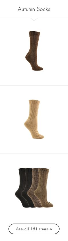 """Autumn Socks"" by lindaweldon ❤ liked on Polyvore featuring intimates, hosiery, socks, none, athletic socks, crew socks, crew length socks, crew cut socks, ribbed socks and wide socks"