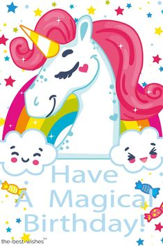 A magical birthday party, Vector Png, Celebrate The Birthday, Birthday Party PNG and Vector Happy Birthday Wishes Girl, Happy Birthday Little Girl, Birthday Girl Quotes, Happy Belated Birthday, Happy 1st Birthdays, Kids Happy Birthday Images, Birthday Ideas, Wish Kids, Happy Birthday Typography