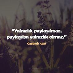 Yalnızlık paylaşılmaz paylaşılsa yalnızlık olmaz. Özdemir Asaf #özdemirasaf #özdemirasafsözleri #güzelsözler #aşk #love #aşksözleri #sevgisözleri #duygusalsözler #sevgiliyesözler