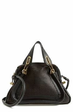 Chloé 'PARATY' PERFORATED LEATHER SATCHEL @Nordstrom