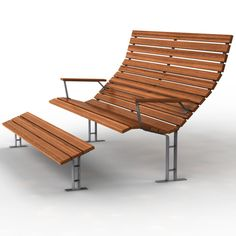 3D Model Bench Seat | Exterior Item 3D Models | Squirrel Studio - 3D Squirrel