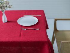 Linen tablecloth (burgundy) 927