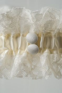 The Abby wedding garter, available from www.lagartier.com