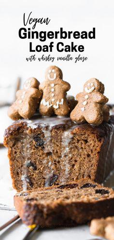 Vegan Dessert Recipes, Delicious Vegan Recipes, Cake Recipes, Baking Recipes, Vegan Gingerbread, Gingerbread Cake, Gingerbread Recipes, Vegan Christmas, Christmas Desserts