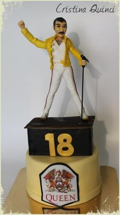Freddie Mercury Cake - Cake by Cristina Quinci Queen Birthday, Third Birthday, Birthday Cake, Freddie Mercury Birthday, Freddie Mercury Quotes, Splash Party, Queen Poster, Party Queen, Queen Pictures