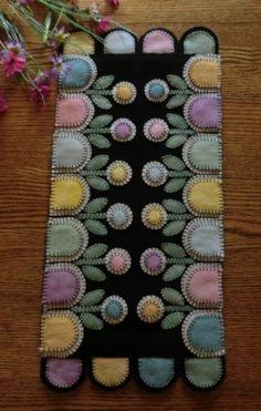 Springtime Garden Pastel Wool Bundle-Wool, pastels, pattern, springtime garden, penny rug, candle mat