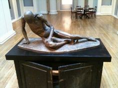 """A copy of Agostino Carlini's bronze cast of """"Smugglerius"""", displayed in Edinburgh. (cc) image from Chris Hill. Another copy is also found in the Royal Academy London."""