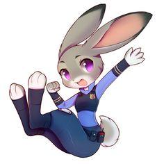 "nekomimiranger: "" lynxmuse: "" A happy, bouncy, lovely, Judy! Loooove it! :) by crunchobar "" awww adorable """