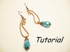 TUTORIAL orecchini wire per principianti | Wire earrings TUTORIAL (+play...