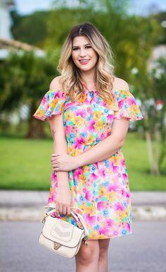 Look do dia: vestido ciganinha florido <3 — Niina Secrets
