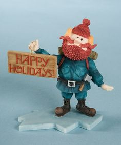 Take a look at this Yukon 'Happy Holidays' Figurine by Jim Shore on #zulily today!