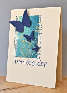 Stampin' Up ideas and supplies from Vicky at Crafting Clare's Paper Moments: Summer butterflies with Creative Elements