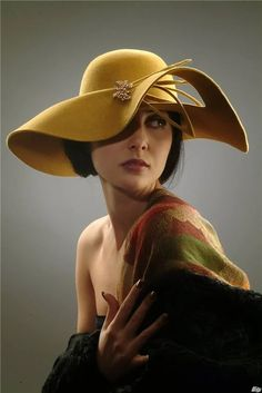 16 - We offer your hat designs to your liking - 1 ladies hats prepared for women with different designs are presented to your liking . Fancy Hats, Cool Hats, Fascinator Hats, Fascinators, Headpieces, Stylish Hats, Glamour, Wearing A Hat, Church Hats