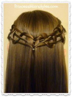 Snake weave tie back hairstyle tutorial