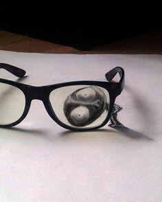 10 Amazing Optical Illusion Charcoal Drawings