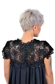 If you are looking for a romantic and delicate outfitour black dress, with flower embroidery is the perfect choice.  Please check our size chart before placing the order. If you have doubts or questions about it DO NOT HESITATEto contact us! We are here to help you! Flower Embroidery, Size Chart, Delicate, Ruffle Blouse, Romantic, This Or That Questions, Check, Outfits, Dresses