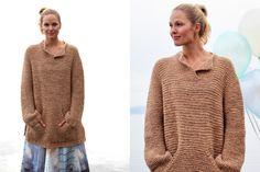 Skappelgenseren med krage og frontlomme #Skappel #SandnesGarn Jumper, Men Sweater, Pullover, Knitwear, Knitting Patterns, Knit Crochet, Textiles, Craft Ideas, Sweaters