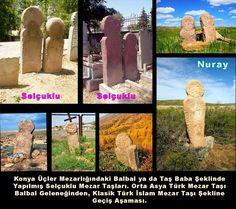Türklerdeki Ölümle ilgili, ATALAR KÜLTÜ bu anlamda bu kuramla örtüşür,Taş Heykelleri dikilir. İnsan biçimli elinde Ant Kadehi Tutan Kağan heykellerinin yerini, Selçuklu döneminde yine insan formunu hatırlatan mezar taşları almıştır. Selçuklu dönemi mezar taşlarını, klasik Türk İslam mezar taşı geleneğine geçiş aşaması olarak görebiliriz. Orta Asyada Kazakistan ve Altaylarda aynı biçimde yapılmış mezar taşlarını görebiliriz. Nuray Bilgili..