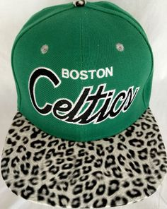 3c76749e108 New Boston Celtic NBA Hat Mitchell   Ness Hardwood Classics Plastic  Leopard… New Boston