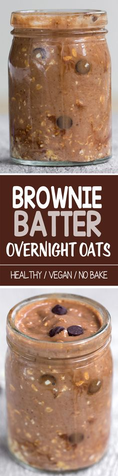 Brownie Batter Overnight Oats, can be made in 5 minutes!