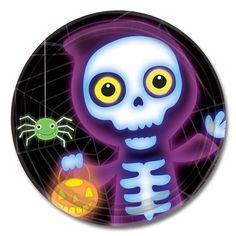 Boo Crew tallerkener til Halloween fest.