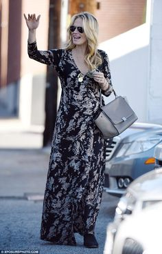 Hair today: The Las Vegas star looked utterly radiant as she headed to her car, showing of...