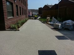 RonaDeck Resin Bound Surfacing laid by PJJ Contractors in Exeter #SuDS