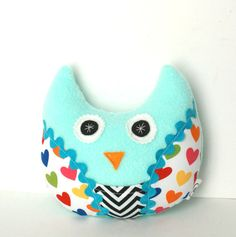 Kids Tooth Fairy Pillow Plush Owl by FriendsOfSocktopus on Etsy, $16.00
