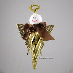 Butterfly Angel Ornament -- I think I'd work on the face, but this is a gorgeous idea.