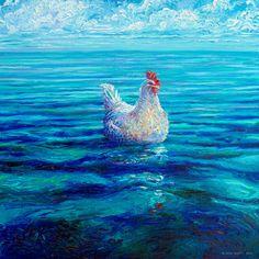 Chicken of the Sea | 30x30in  Original SOLD | Buy Prints
