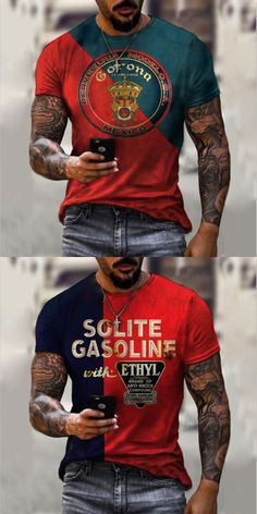 T shirts are a staple in any man's wardrobe, and we have a big range of t-shirts to keep you stocked up & in style! Shop the range now. #tshirt #shirts #men King Fashion, T Shirt Vest, Men's Wardrobe, Moda Fitness, My Outfit, Long Sleeve Shirts, Men Sweater, Vintage Fashion, Mens Tops