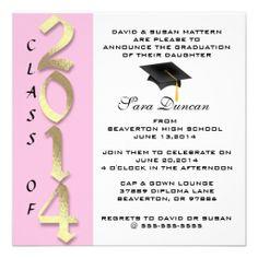 Time Flies Graduation Invitation Red 190 Graduation