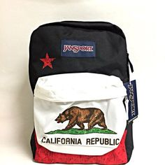 JanSport SUPERBREAK Backpack RD NEW CALIFORNIA REPUBLIC JS00T50109P 723e7bf26c400